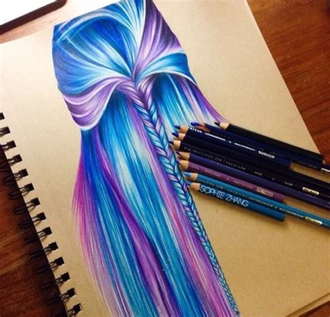 hairstyles color drawing art image 3089142 by saaabrina on favim com