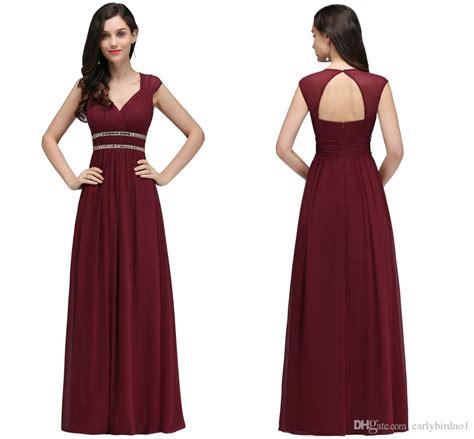 Bridesmaid Dress Designers List Uk - 2018 burgundy new designer bridesmaid dresses cap