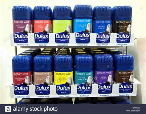 dulux matchpots of paint for sale uk stock photo royalty free image 37227406 alamy