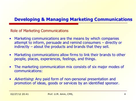 Marketing Communication Notes For Mba by Kotler Mm 15 10