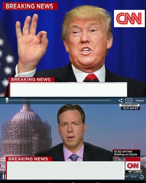 Breaking News Meme Generator - cnn spins trump news blank template imgflip
