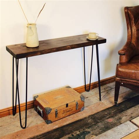 industrial console table industrial style console table by m 246 a design