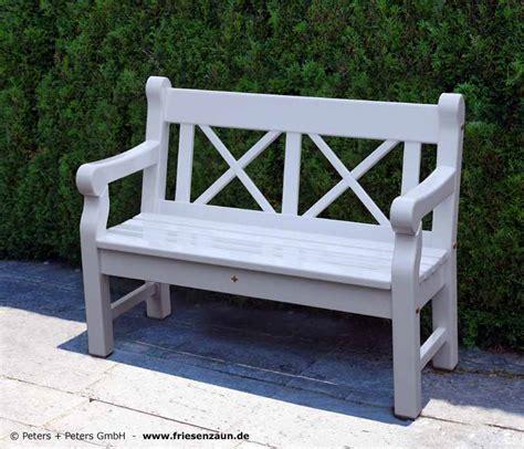 Gartenbank Holz Weis
