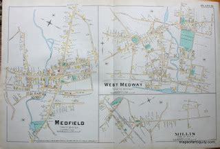 Norfolk County Ma Property Records Antique Maps And Charts Original Vintage Historical Antique Maps Charts