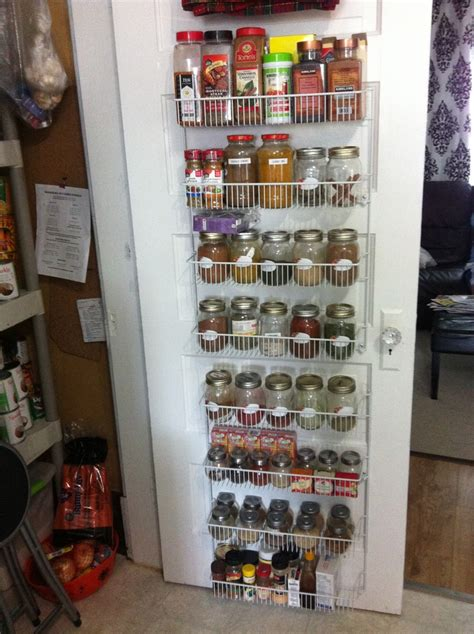 diy spice rack on the door door spice rack diy for the home