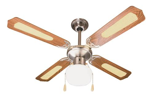 ventilatori a soffitto ventilatore da soffitto 4 pale 216 105 cm marrone con rattan