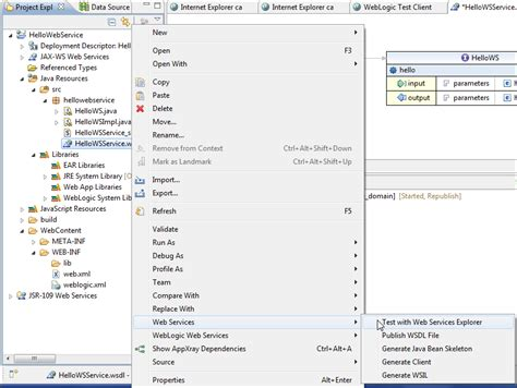 wsdl binding testing wsdl in web services explorer java ee
