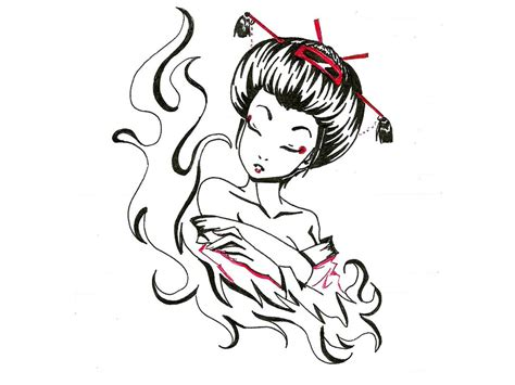 geisha tattoo wallpaper geisha cartoon cliparts co