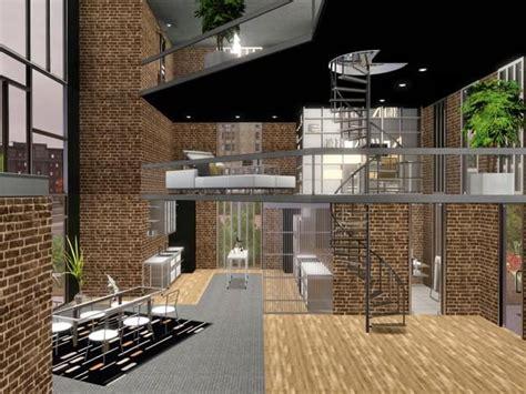 sims resource tsr metro modern  story loft home