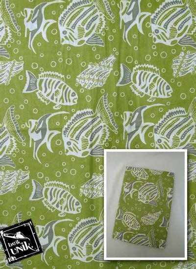 Kain Katun Motif Batik Meteran 2x1 1 M kain batik katun print motif gelembung parang ikan kain