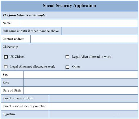 social security form social security application form sle forms