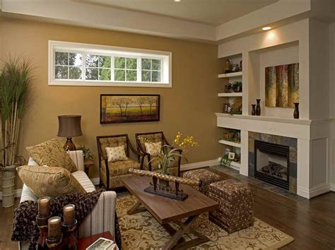 livingroom design golden wall paint rustic table smooth rug pottery barn living room with room