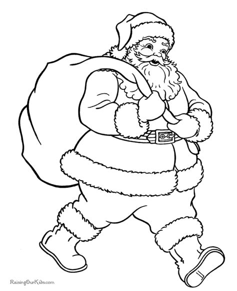 christmas coloring pages santa coloring home