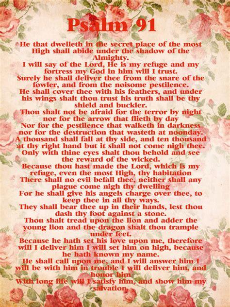 printable version psalm 91 psalm 91 kjv psalm 91 poster digital download prayer for