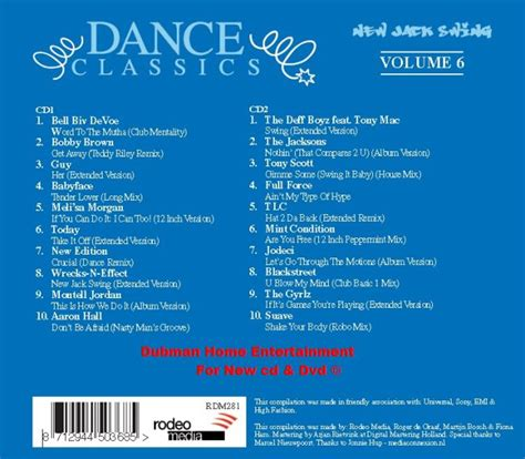 dance classics new jack swing dance classics new jack swing vol 6 dubman home