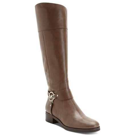 michael kors boots michael kors michael fulton harness boots in brown birch