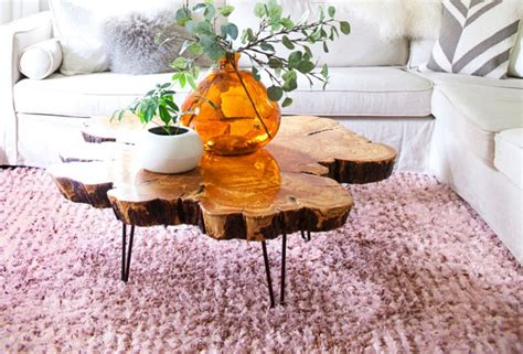 live edge coffee table diy diy live edge wood projects for your home