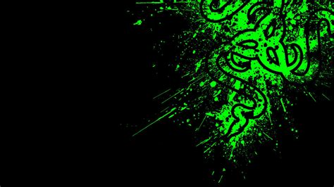 Kaos Black And Green Razer logo razer green 11 wallpaper hd