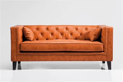 texas couch 3 seater leather sofa texas brown by kare design