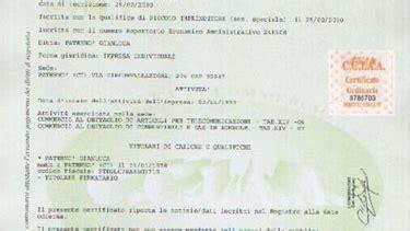 ufficio registro torino certificati di iscrizione al registro imprese rea