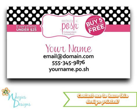Perfectly Posh Business Card Template