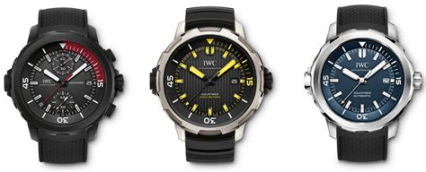iwc dive watches three new iwc aquatimer divers watches for sihh 2016