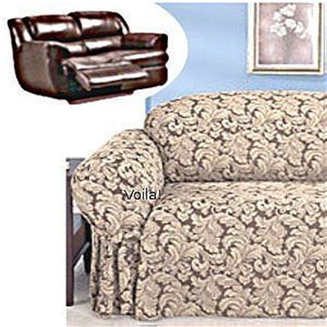 reclining loveseat slipcover reclining loveseat slipcover damask chocolate adapted for