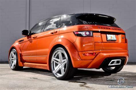 burnt orange range rover auto представляет тюнинг vesuvius orange range