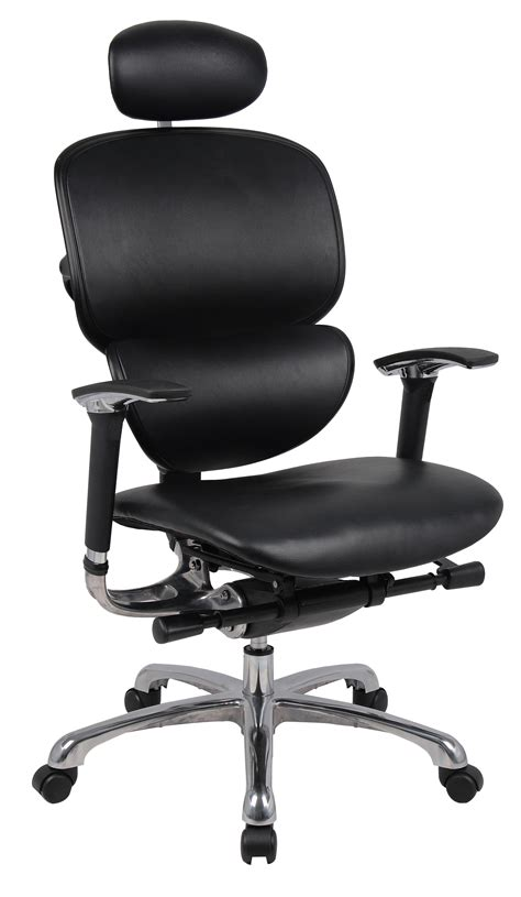 leather orthopaedic office chair wave great comfort