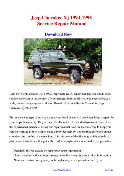 how to download repair manuals 1993 jeep cherokee electronic valve timing service manual 1995 jeep cherokee dispatch workshop manuals 1995 jeep cherokee xj service