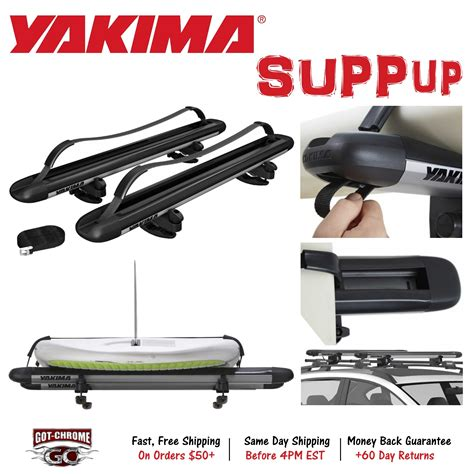 Stand Up Paddle Board Roof Rack 8004078 yakima suppup sup stand up paddle board