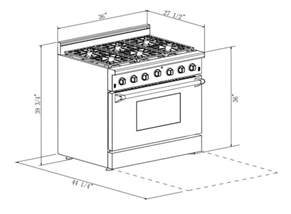 Kitchen Oven Width 36 Quot Pro Style Freestanding Slide In Gas Range Kitchen
