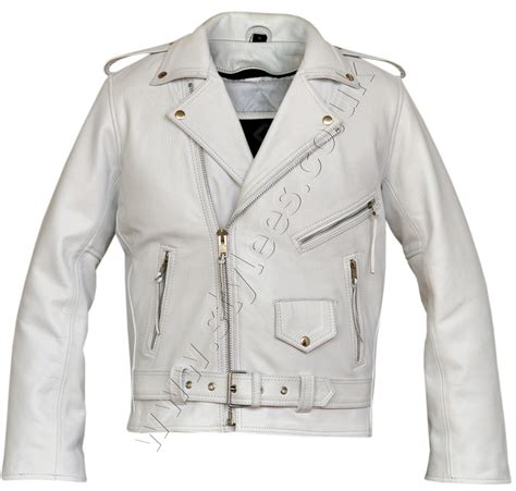 white motorbike jacket white marlon brando classic motorcycle leather jacket