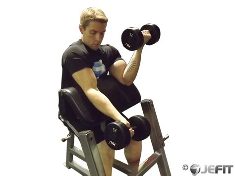 preacher bench exercises dumbbell alternate preacher curl exercise database