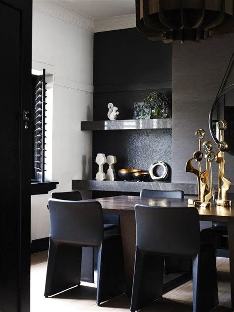 Black And Gold Interior by Impressive Black Interior Design With Gold And Orange