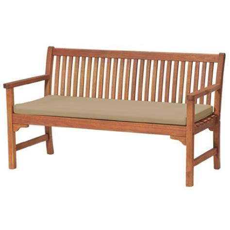 large bench cushion garden 3 seater large bench pad cushion in stone