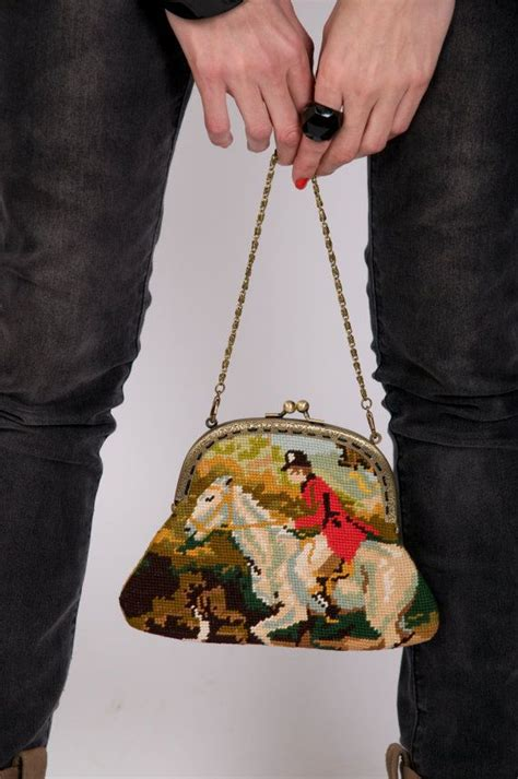Vienna Tote Gobelini purse chic and vintage canvas by mademoisellebea on etsy