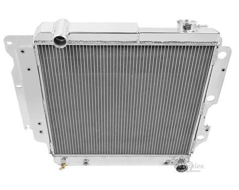 jeep aluminum radiator 87 06 jeep wrangler yj chevy v8 conversion 8101 all