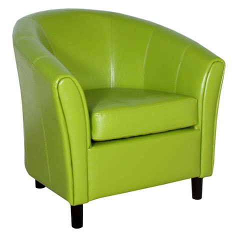 Lime Green Accent Chair Napoli Lime Green Leather Chair Accent Chairs At Hayneedle