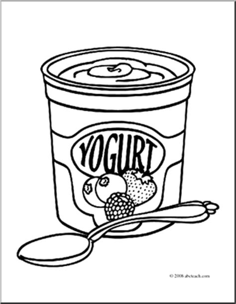 Coloring Page Yogurt by Clip Yogurt Coloring Clipart Panda Free Clipart