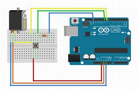 arduino code push button arduino servo motor control with pushbutton