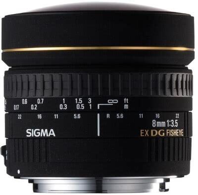 fisheye 10 sigma 8mm f3.5 ex dg circular fisheye lens for