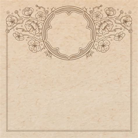 background design old paper old paper with floral background vector set free vector in