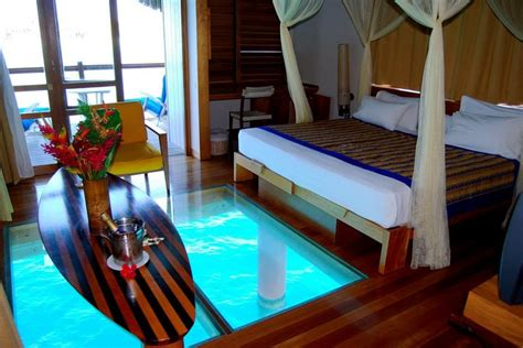 See The Room Hotel Le Meridien Bora Bora Water Bungalow With See