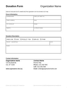 contribution form template donation form template for word