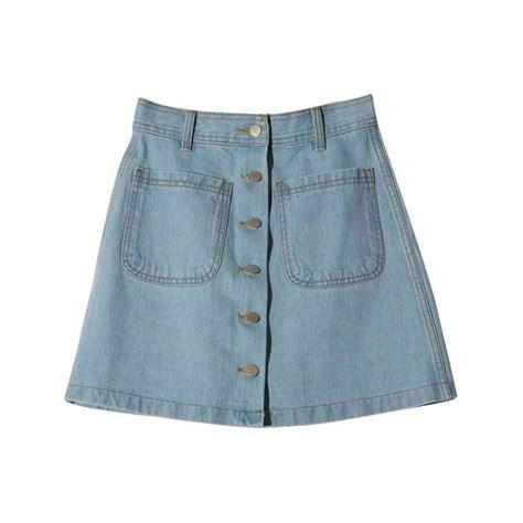button up denim skirt on storenvy