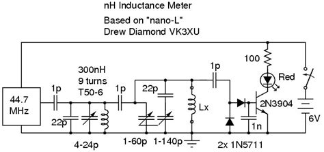 inductance tester schematic alan yates laboratory nano henry inductance meter