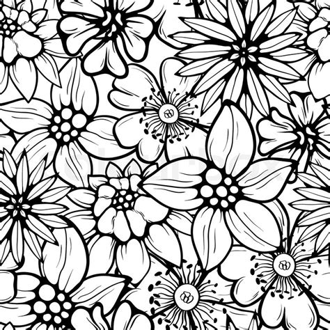 seamless pattern flower floral seamless pattern stock vector colourbox