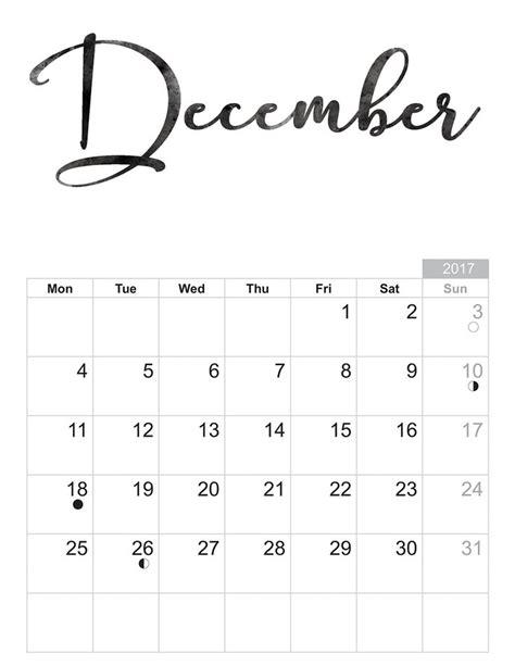 Calendar For December 2017 December 2017 Calendar Printable Templates Free