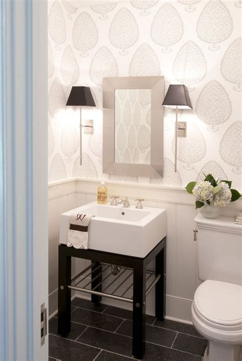 Good Life Of Design Very Small Bathrooms That Look Grande Small Bathroom Wallpaper Ideas
